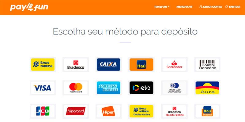 Pay4Fun metodos de pagamento
