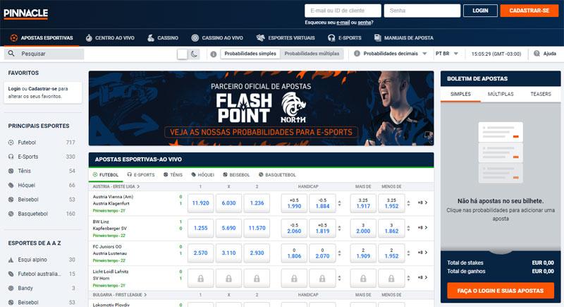 Pinnacle Sports site de apostas